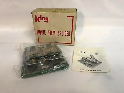 Vintage King Movie Film Splicer Super 8mm & 16mm In Box With Instructions Japan