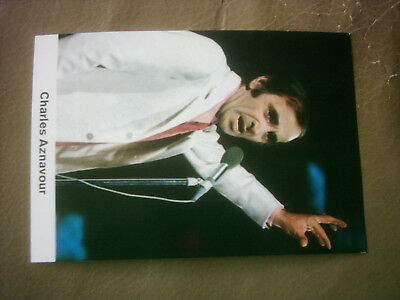 CHARLES AZNAVOUR  -  Starcard 60th Germany
