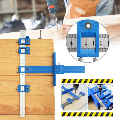 Drill Guide Sleeve Punch Locator Cabinet Hardware Jig Drawer Pull Wood Dowelling