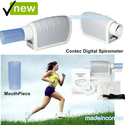 New Digital Pulmonary Function Spirometer Lung Volume Device (FVC,VC,MVV)+USB SW