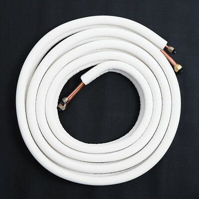 5m 1/4'' 1/2'' Air Conditioner Pair Coils Tube Insulated Copper Pipes Twin Lines