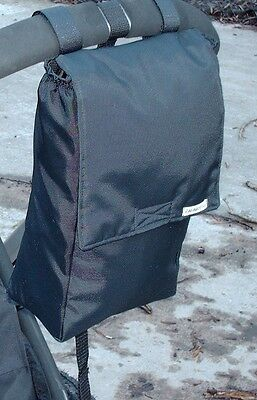 Bagabottle Black Pouch Baby Bag fits Bugaboo icandy, Evo, Quinny Mood & More