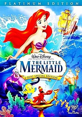 The Little Mermaid (DVD, 2006, 2-Disc Set, Platinum Edition) NEW!!