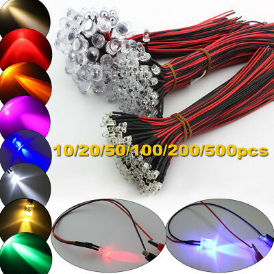 LED Bulbs Emitting Diodes 9V-12V 3mm 5mm 10mm White red blue green yellow purple