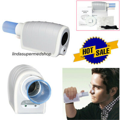 Handheld Digital Spirometer,FVC,VC, MVV,Factory Sale Spirometer with PC Software