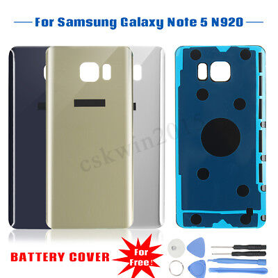 Rear Back Door Housing Glass Battery Cover Panel For Samsung Galaxy Note 5 N920