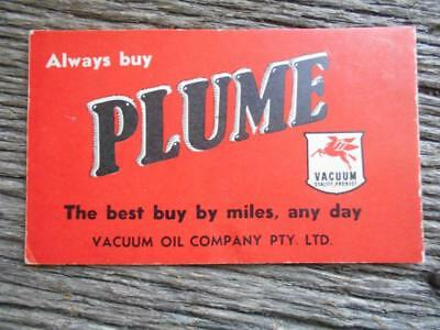1948 Plume Vacuum Oil Co advertising pocket calendar petrol Pegasus