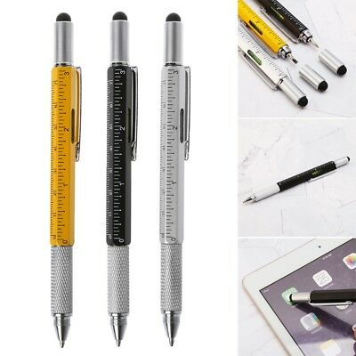 6in1 Multifunction Touch Stylus Screen Ballpoint Pen With Ruler Screwdriver Tool