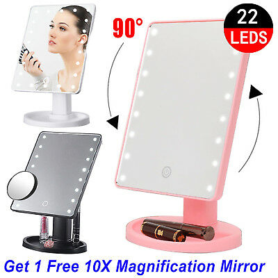 22 LED Makeup Mirror Lights Led Cosmetic Desktop Stand Table Beauty Touch Button