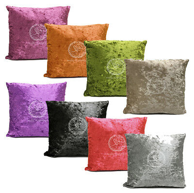 "Crushed Velvet Cushion Luxury Reversible Chic Scatter 18"" Square Cover"