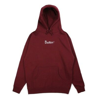 Butter Goods - Embroidered Classic Logo Mens Hoodie Burgundy