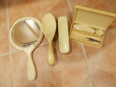 Vintage Dressing Table Personal Grooming and Manicure Sets