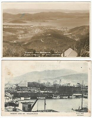 Vintage Postcards Hobart Harbour Mt Wellington
