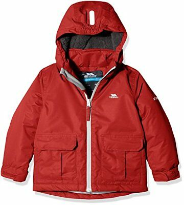 Trespass Flemington, Red, 34, Warm Padded Waterproof Jacket with removable Hood