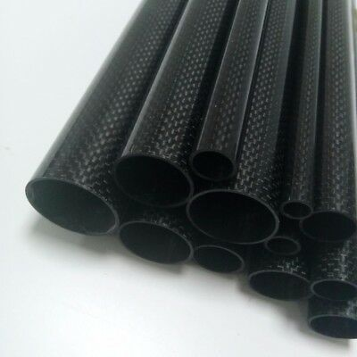 1 Roll Wrapped Carbon Fiber Tube 3K Glossy surface ID Multi-Size Length 500mm