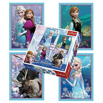 Trefl 4 In 1 35 + 48 + 54 + 70 Piece Girls Kids Anna Elsa Frozen Jigsaw Puzzle