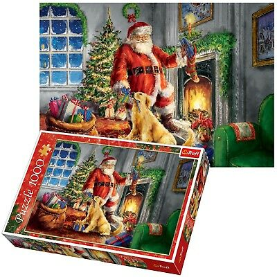 Trefl 1000 Piece Adult Large Christmas Theme Santa Claus Jigsaw Puzzle NEW