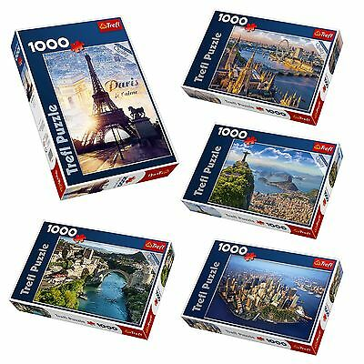 1000 Piece Trefl Floor Jigsaw Puzzles Toy Game World Cities Overhead View NEW