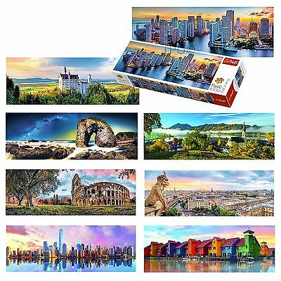 Trefl 1000 Piece Panorama View Adult Famous Manhattan Paris Germany Miami Puzzle