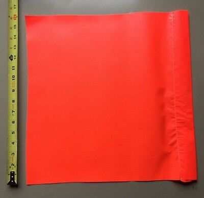 "Safety Flag SF 16 16"" Vinyl Flags Red/Orange Warn Caution Traffic Direct Parking"