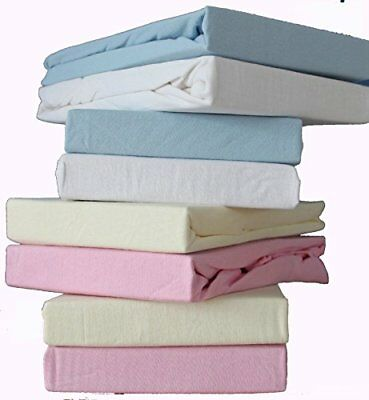 Dudu N Girlie Cotton Jersey Mini Cot Fitted Sheet, 100 cm x 50 cm, Pink