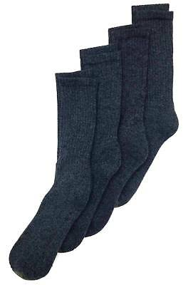 $45 GOLD TOE Men`s 4-Pair Pack GRAY COTTON CUSHION CASUAL CREW SOCKS Size 6-12