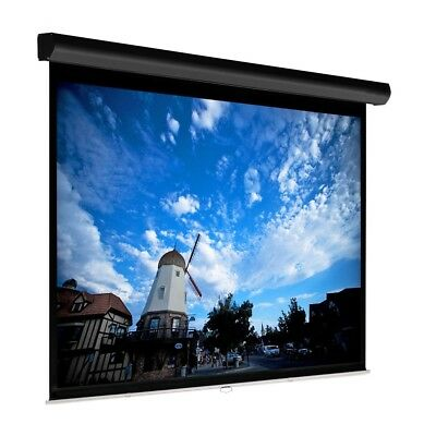 """92"""" Manual Projector Screen HD 16:9 Matte Self Locking Home Theater Projection"""