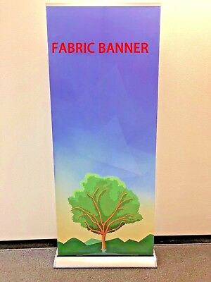 "Retractable 33""×79"" Roll up banner stand trade show display+FREE PRINTING"