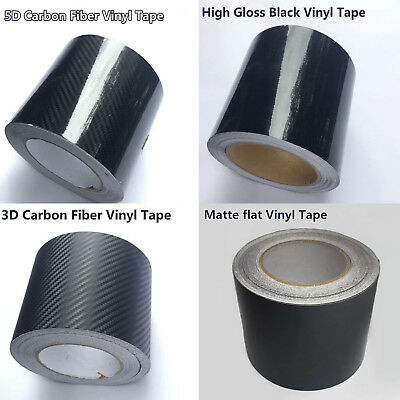 Textured 3D Carbon High Gloss Matte Vinyl Black Tape DIY Wrap Car Film Sticker