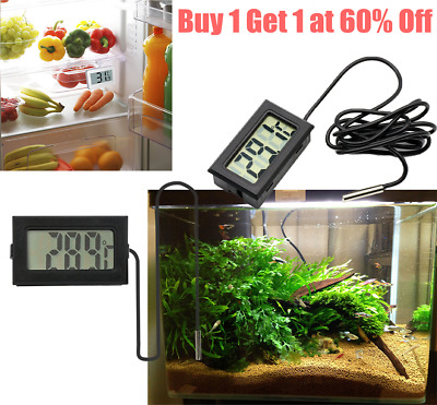 *UK* LCD Digital Aquarium Fish Tank Vivarium Reptile Fridge Freezer Thermometer