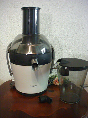Entsafter Philips HR1869 Avance Collection Juicer 900 Watt weiß neuwertig