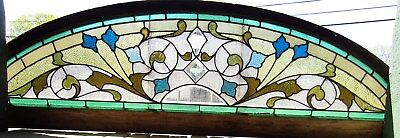 Antique Stained Glass Arch Window