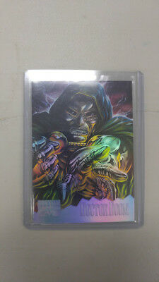 1995 MARVEL MASTERPIECES Holoflash Dr Doom #3 of 8 Insert Carte Fleer X-MEN