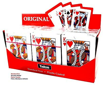 Playing Card Quality Deck Plastic Coated Original Standard POKER - WH2-R2B :NEW