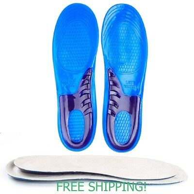 Silicone Gel Insoles Orthotic Arch Support Shoe Pad Massaging Sport Cushion M-L.