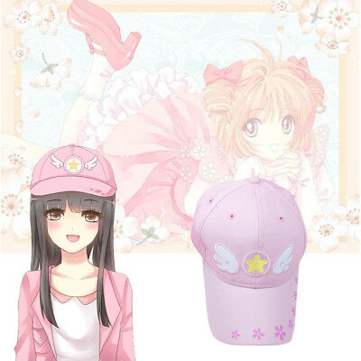 Anime Card Captor Sakura Cosplay Cute Lolita Girls Pink Cap Baseball Cap Hat