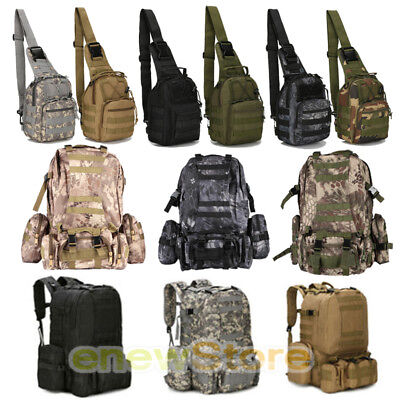 e48165a00369 7L/55L MOLLE OUTDOOR Military Tactical Bag Camping Hiking Trekking  Backpack+Gift