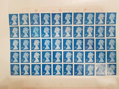 900 x 2ND CLASS SECURITY STAMPS UNFRANKED WITH GUM FACE VALUE £522 EASY PEEL
