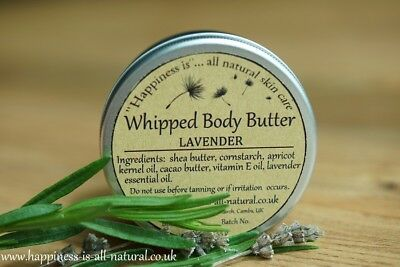 WHIPPED BODY BUTTER LAVENDER natural homemade pure shea cacao butter apricot