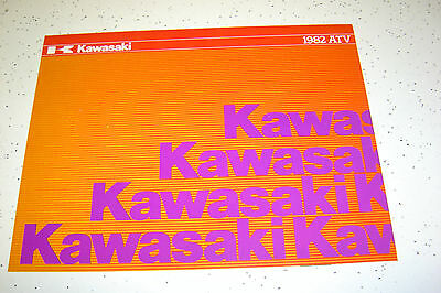 1 Kawasaki 1982 NOS.ATV,KLT250,KLT200cc, Sales Brochure.4 Pages.