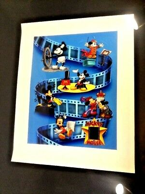 Disney - Mickey Mouse - (Autographed) Framed Lithograph w/35MM film