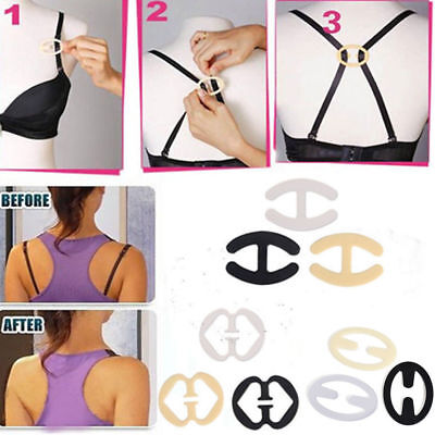 Cleavage Control Holder Clips Hide Bra Clasp Strap Buckle Adjust Converter