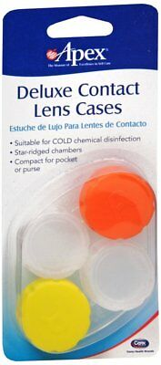 Apex Deluxe Contact Lens Cases 2 Ct - Colors may vary
