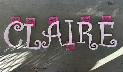 """""""CLAIRE"""" Letters For Wall 5.5"""" Primed"""