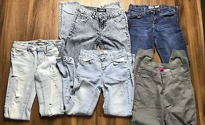 Lot of 5 Pairs of Girls Jeans Size 12 EUC