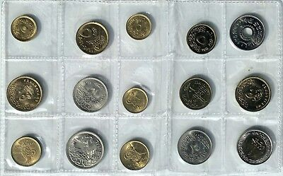 Fifteen Assorted Coins From Egypt, Egyptian, Foreign Money