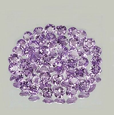 4mm 100pc Lot 4mm Round Natural Amethyst