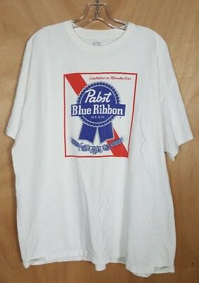 Mens Pabst Blue Ribbon Beer T Shirt size 2XL
