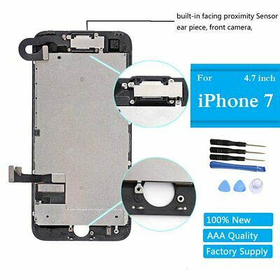 """For iPhone 7 4.7"""" LCD Screen Black Display Touch Digitizer Assembly Front Camera"""