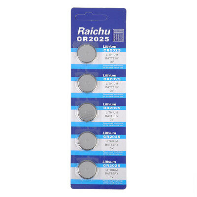 5pcs Pack CR2025 3V Volt Button Cell Coin Battery for Watch Remote Toy Camera